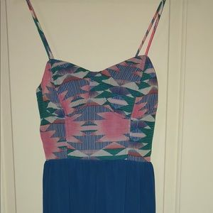NWOT, High Low spring dress